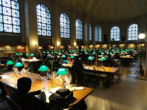 Boston Public Library, Massachusetts, USA.
