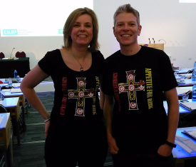 Jane and Chris at the CILIP Copyright Conference 2017