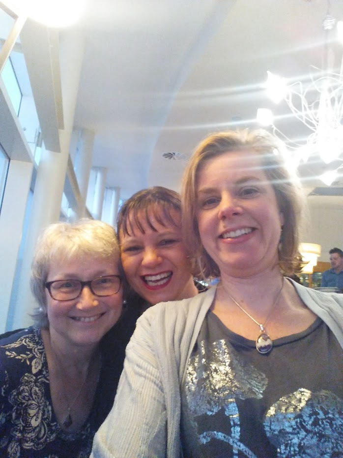 Rowena with friends Maria Bell and Jane Secker