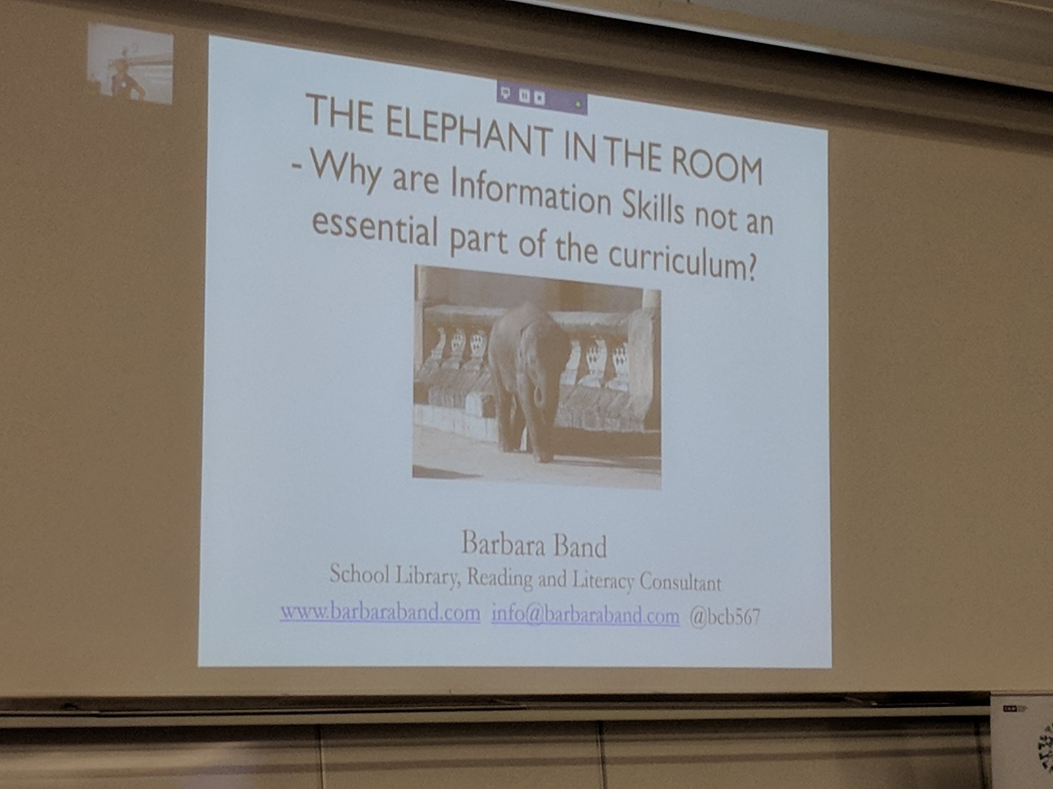 Barbara Band keynote: The elephant in the room