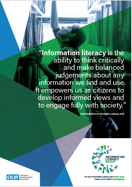 Information Literacy definition A3 poster