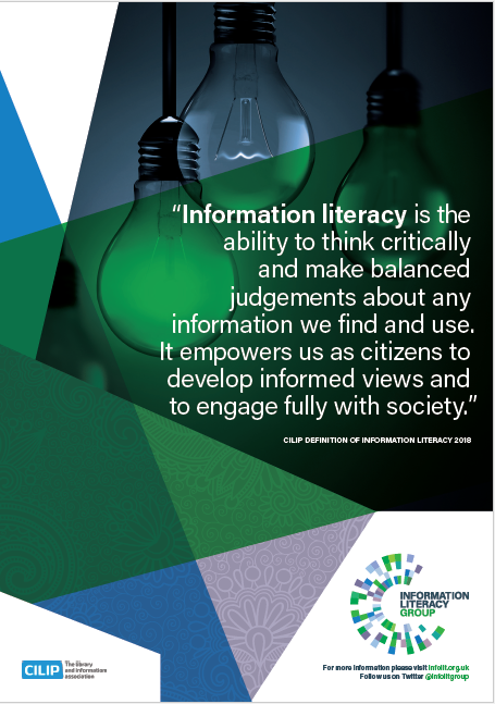 Information Literacy definition A4 poster