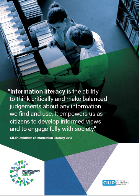 Information Literacy definition A6 postcard