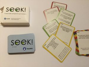 Picture of the information literacy card game Seek