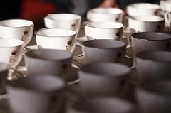 China tea cups at Buckingham Palace
