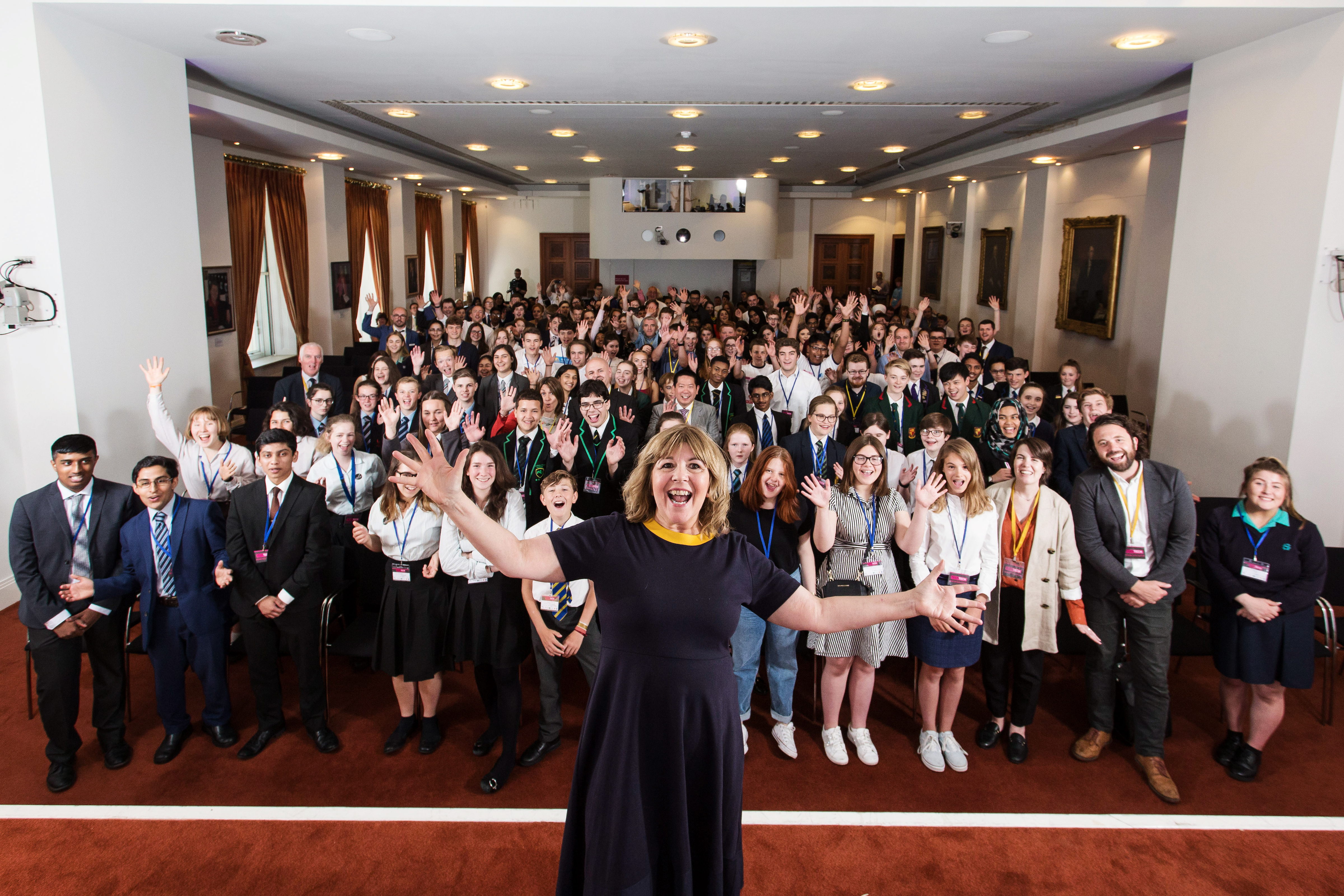 Maggie Philbin and the 2018 student participants
