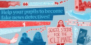 CEMP Project image 'Educators' displaying the message Help your pupils to become fake news detectives