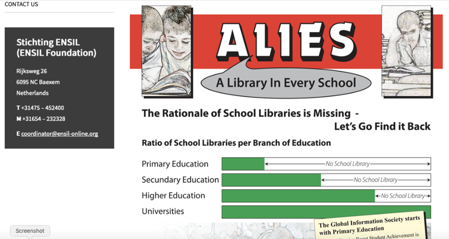 ALIES - A Library In Every School - diagram