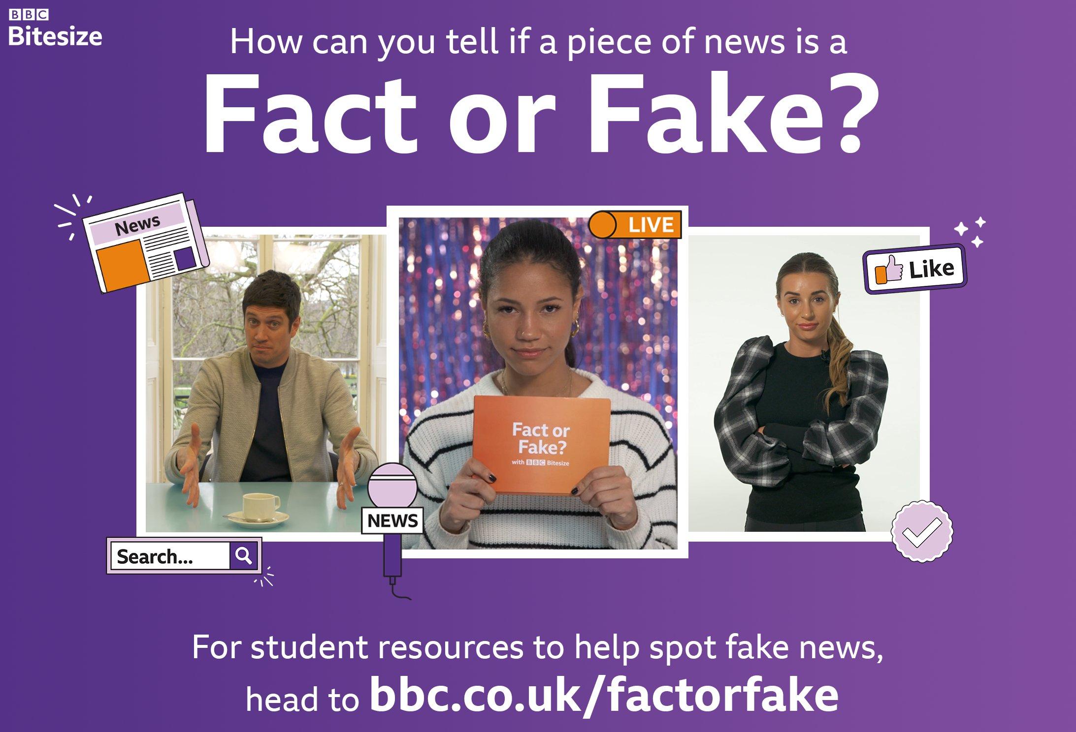 BBC Bitesize Fact or Fake? campaign