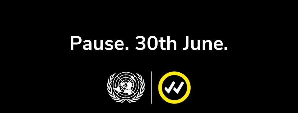 Publicity for UN's Pause campaign