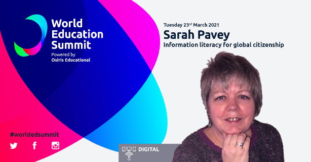 Sarah Pavey - World Education Summit banner