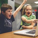 Children and Macintosh computer
